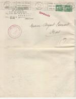 N° 809 En Paire Marianne De Gandon Sur Doc Imprimé Section Départementale De L' ONIC TAD Avignon 4/10/51 - Poststempel (Briefe)