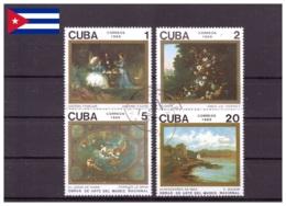 Cuba 1989 - Oblitéré - Peinture - Michel Nr. 3336-3339 (cub355) - Cuba