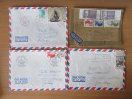 France Métropolitaine Vers DOM-TOM - Lot De 12 Enveloppes Timbrées Modernes à étudier - Timbres Variés - Collections