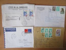 France Vers Roumanie - 23 Enveloppes Timbrées Modernes - Bons Affranchissements Et Timbres Variés - Collections