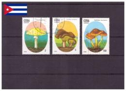 Cuba 1988 - Oblitéré - Champignons - Michel Nr. 3157 3159 3162 (cub347) - Cuba