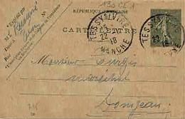 Carte 130 CL 1 Avec N° De Date 725 De Tessy Sur Vire Pour Domjean - Cartes-lettres