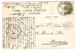2575/ TP 83 S/CP Gembloux Av De La Station Pli C.Ambulant Arlon-BXL 2 1911 V.Namur C.d'arrivée - Ambulantes