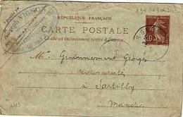 Carte 139 CP 1 Avec N° De Date 149 De Flers De L'Orne Pour Sartilly - Standaardpostkaarten En TSC (Voor 1995)
