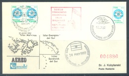 ARGENTINA  - 1982 - RECUPERACION ISLAS MALDIVAS   - SPECIAL FLIGHT COMMEMORATION - Lot 18473 - Argentine