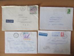 France Vers Allemagne - 17 Enveloppes Timbrées Modernes - Bons Affranchissements Et Timbres Variés - Collections