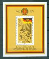 DDR - Block Nr. 56 - 30 Jahre DDR Postfrisch - [6] República Democrática