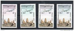 Kampuchéa. Poste Aérienne. Série De 4 Timbres Neufs ** - Kampuchea