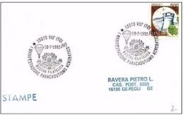 VIU' (Torino) - 18 7 1992 MANIFESTAZIONE PARACADUTISMO ACROBATICO - MOSTRA FILATELICA - Paracadutismo