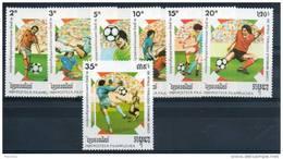Kampuchéa. Coupe Du Monde De Football 1990. Série De 7 Timbres Neufs ** - Kampuchea