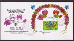 MICRONESIA - 10 8 1990 FDC EXPO OSAKA DEL 1990 - Micronésie
