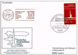 1 7 1972 -SONDERFLUG FRIEDRICHSHAFEN-LUZERN  (VEDI SCAN) - Elicotteri