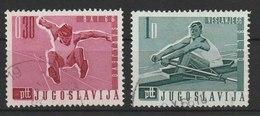 MiNr. 1144, 1146 Jugoslawien  / 1966, 1. März. Weltmeisterschaft Im Eishockey, Weltmeisterschaften Der Ruderer - 1945-1992 Socialist Federal Republic Of Yugoslavia