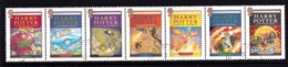 Great Britain 2007 Harry Potter Series Final Book Strip Of 7 CTO - Usati
