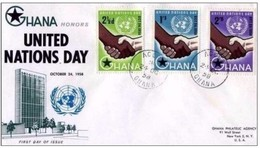 ONU - 24 10 1968  FDC GHANA  RACCOMANDATA ESTERO - Ghana (1957-...)
