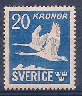 SUEDE - PA 7  20K BLEU OIES NEUF** MAIS TACHES DE ROUILLE COTE 100 EUR - Unused Stamps
