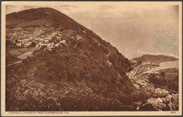 Lynton & Lynmouth From Summerhouse Hill, Devon, C.1940s - Harvey Barton Postcard - Lynmouth & Lynton
