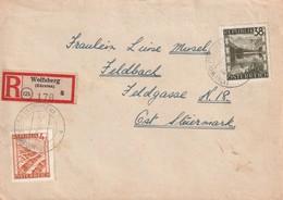 AUTRICHE - LETTRE Recommandée - 4/07/1946 - 1945-60 Briefe U. Dokumente