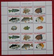Surinam / Suriname 2007 POISSONS TROPICAUX FISH VIS VISSEN (ZBL 1467-1472 Mi 2138-2143  Sc -) POSTFRIS / MNH ** - Surinam