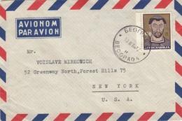 LETTRE YOUGOSLAVIE POUR NEW YORK - Yougoslavie