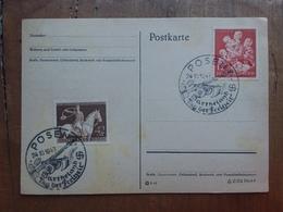 GERMANIA III REICH - Cartolina Con Francobolli Commemorativi - Annullo Speciale + Spese Postali - Germania