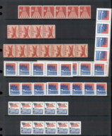 USA 1960's On Coil Assortment, Strips & Pairs, Most MUH, Some Plate Numbers 9 Scans - Stamps