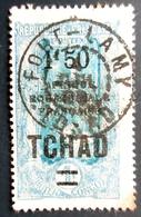 """TCHAD : Type Du Congo De 1907-17, Surchargé """"Tchad"""" , """"AOF""""et Nouvelle Valeur. Oblitération FORT LAMY - Oblitérés"""