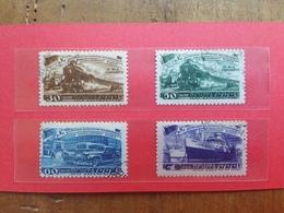 RUSSIA 1948 - Trasporti Nn. 1252/55 Timbrati + Spese Postali - 1917-1923 Repubblica & Repubblica Soviética