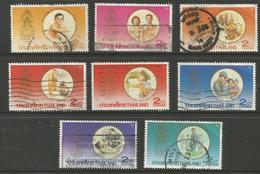 Thailand - 1987 King Bhumibol 60th Birthday Used   Sc 1197-1204 - Thailand
