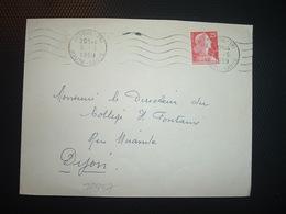 LETTRE TP M. DE MULLER 25F OBL.MEC.3-6 1959 VESOUL TRI HAUTE-SAONE (70) - Poststempel (Briefe)