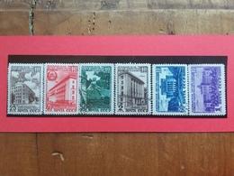 RUSSIA 1950 - X° Anniversario Della Lettonia - Nn. 1477/82 Timbrati + Spese Postali - 1917-1923 Repubblica & Repubblica Soviética