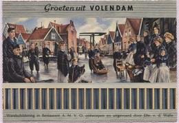 CPM - VOLENDAM - Café Restaurant A.M.V.O. WANDSCHILDERING - Volendam