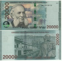 """ARMENIA  New 20'000 Dram   """"JUST  ISSUED""""  Attractive Design  Pnew  2018 - Arménie"""