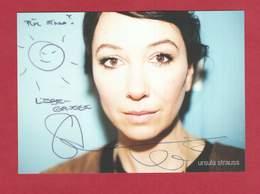 Ursula Strauss (österreichische Schauspielerin), Signierte Originalautogrammkarte - Autographs