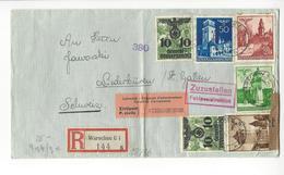 WARSCHAU VARSOVIE POLAND 1941 WW2 SUISSE INTERNES CAMP INTERNEMENT NIEDERBUEREN CENSOR GEOFFNET GENERALGOUVERNEMENT - 1939-44: 2. WK