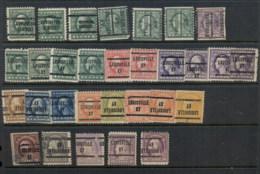 USA 1908-1919 Washington Franklin Precancels T&C Assortment, Kentucky - Stamps