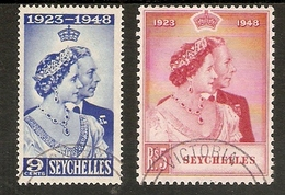SEYCHELLES 1948 SILVER WEDDING SET VERY FINE USED Cat £48+ - Cayman Islands