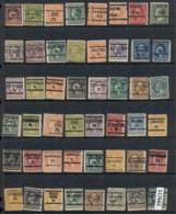 USA 1908-1919 Washington Franklin Precancels T&C Assortment, Pensylvania 5 Scans - Stamps