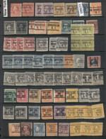 USA 1908-1919 Washington Franklin Precancels T&C Assortment, New York 5 Scans - Stamps