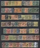 USA 1908-1919 Washington Franklin Precancels T&C Assortment, Connecticut - Stamps