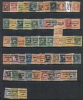 USA 1908-1919 Washington Franklin Precancels T&C Assortment, Ohio 2 Scans - Stamps