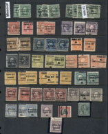 USA 1908-1919 Washington Franklin Precancels T&C Assortment, Missouri 4 Scans - Stamps