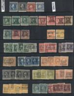 USA 1908-1919 Washington Franklin Precancels T&C Assortment, Michigan 4 Scans - Stamps
