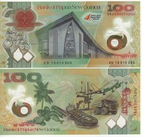 "PAPUA NEW GUINEA  100 Kina "" New Commemorative 2018""  Polymer     UNC - Papouasie-Nouvelle-Guinée"
