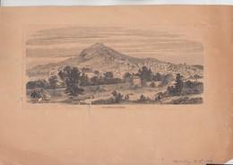 RT31.941 VAR . HYERES.GRAVURE DE L'ILLUSTRATION DEC. 1869.VUE GENERALE D'HYERES - Estampes & Gravures
