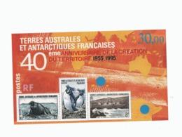 VP4L9 TAAF FSAT Antarctique Antarctic Neuf°° MNH 1995 Bloc 2  40eme Anniversaire - Blocs-feuillets