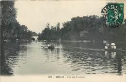 CPA 45 LOIRET Olivet - Lot 2 Cartes Vue Sur Le Loiret  Barques Canotage Pont + Les Bords Du Loiret Petit Accroc En Haut - France