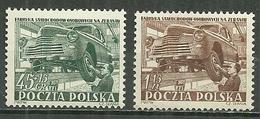POLAND MNH ** 691-692 Industrie Automobile Auto Voiture Atelier De Montage - 1944-.... République
