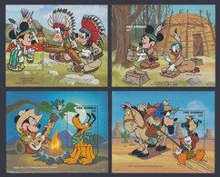 GAMBIA 1995 - Disney Cowboys & Indians - Mi B270-3; CV=36 € - Gambia (1965-...)