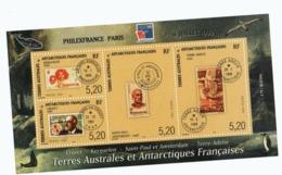 VP4L9 TAAF FSAT Antarctique Antarctic Neuf°° MNH  Bloc 3 1999 Philexfrance 99 - Blocs-feuillets